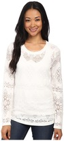 Dylan by True Grit Lariat Lace Long Sleeve Tee