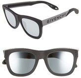 Givenchy Men's 52Mm Gradient Lens Sunglasses - Black Silver