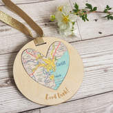 Girl and Bird Personalised 'Good Luck' Map Token