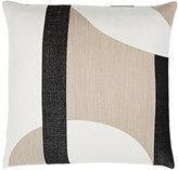 Judy Ross Luna Geometric-Pattern Merino Wool-Cotton Pillow
