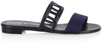 Manolo Blahnik Abbey Flat Sandals