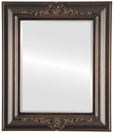 The Oval And Round Mirror Store Winchester Framed Rectangle Mirror, Rubbed Bronze, 29x35