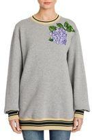 Dolce & Gabbana Floral-Embroidered Oversize Sweatshirt