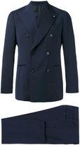 Lardini double breasted suit - men - Cotton/Wool/Mohair/Cupro - 48