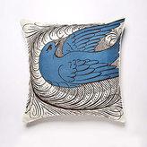 Flourish Aqua Linen Pillow