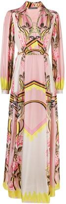 Alberta Ferretti Floral-Print Silk Maxi Dress