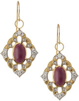 Jude Frances 18k Ruby & Diamond Drop Earrings