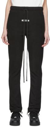 Essentials Black Polar Fleece Lounge Pants