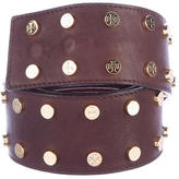 Tory Burch Studded Leather Belt