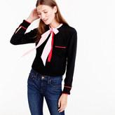 J.Crew Collection colorblock silk tie-neck top