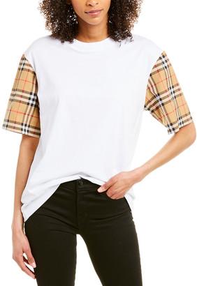 Burberry Vintage Check Detail T-Shirt