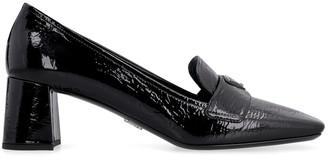 Prada Patent Leather Heeled Loafers