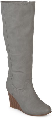 Journee Collection Langly Women's Wedge Knee High Boots
