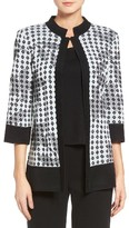 Ming Wang Women's Diamond Jacquard Jacket