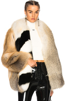Off-White Fox Fur Coat with Stole in Neutrals.