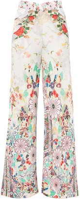 Camilla Time After Time Metallic Printed Knitted Wide-leg Pants