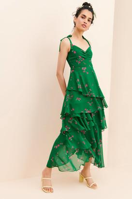 Flynn Skye Leona Layered Ruffle Midi Dress