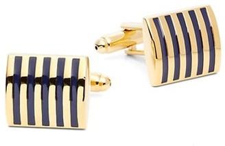 Saks Fifth Avenue Striped Enamel Cuff Links