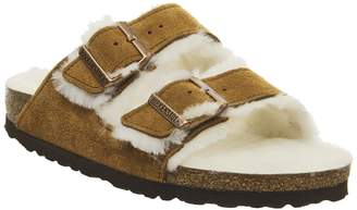 Birkenstock Arizona Shearling Sandals Mink