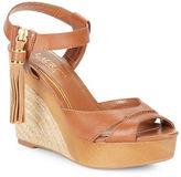 Lauren Ralph Lauren Gwen Espadrille Wedge Leather Sandals