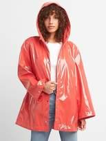 Hooded High Gloss Rain Jacket