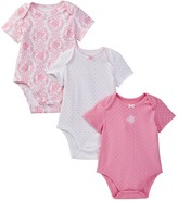 Little Me Damask Cotton Bodysuits - Set of 3 (Baby Girls)