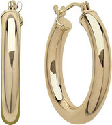 JCPenney FINE JEWELRY Infinite Gold 14K Yellow Gold Polished Hoop Earrings