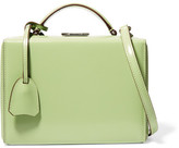 Mark Cross Grace Small Glossed-leather Shoulder Bag - Mint