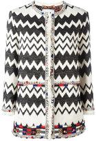 Bazar Deluxe - zigzag tweed jacket - women - Silk/Cotton - 40