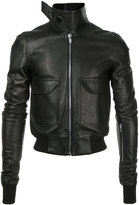 Rick Owens oblong collar bomber jacket - men - Cotton/Calf Leather - 46