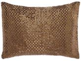 Aura Dupioni 13-Inch x 18-Inch Beadwork Throw Pillow