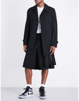 Comme Des Garcons Pvc Print-back Wool Coat