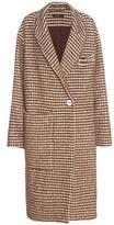 Ellery Nixon Houndstooth Wool, Mohair And Alpaca-blend Coat