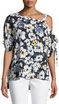 1 STATE 1.STATE One-Shoulder Floral Blouse
