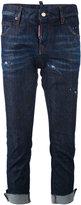 DSQUARED2 Jennifer raw edge cropped jeans - women - Cotton/Spandex/Elastane - 36