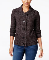 Karen Scott Marled Wing-Collar Cardigan, Only at Macy's
