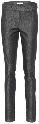 The Row Stretch-cotton skinny pants