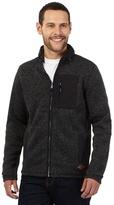 Mantaray Dark Grey Knitted Concealed Hood Sweater