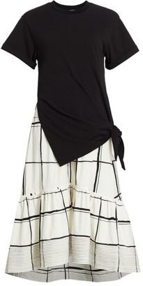 3.1 Phillip Lim Combo Plaid T-Shirt Dress