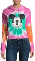 Freeze Mickey Mouse Cropped Sweatshirt-Juniors