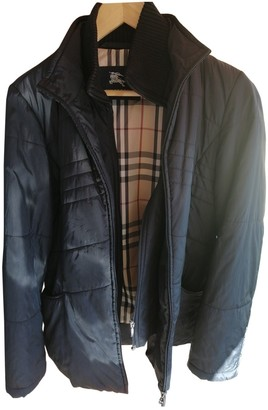 Burberry Blue Polyester Leather jackets