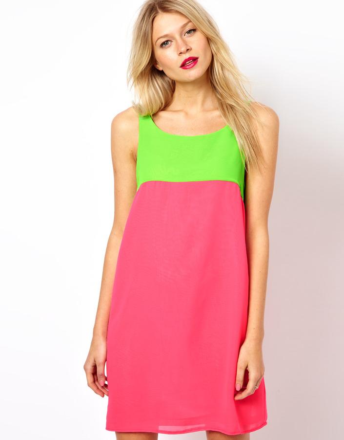 Love Shift Dress In Color Block