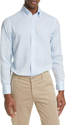 Canali Linen Buttondown Shirt