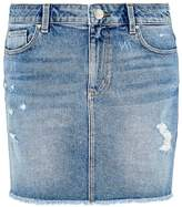 Hallhuber Pre-destroyed denim mini skirt