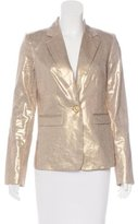 Alice + Olivia Metallic Notch-Lapel Blazer