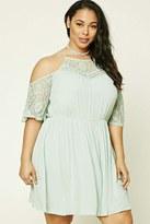 Forever 21 FOREVER 21+ Plus Size Open Shoulder Dress