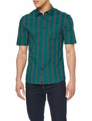 New Look Men's Muscle Stripe Regular Fit Casual Shirt