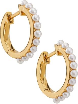 AJOA Imitation Pearl Huggie Hoop Earrings