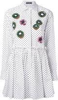 Dolce & Gabbana floral kiwi appliqué long shirt