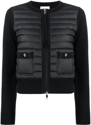 Moncler Padded Panels Zipped Cardigan
